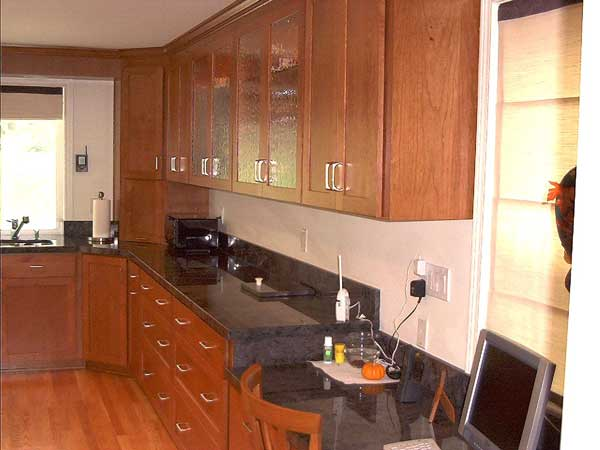 ... Refaced Cherry Kitchen Cabinets ...
