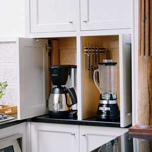 Tony 39 s custom cabinets storage optionsquality kitchen for Storage ideas for small kitchen appliances